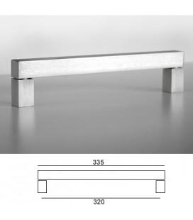 MANIGLIA Q6628/320 INOX SAT.