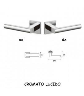 1/2 MANIGLIA EUCLIDE Q CROMATO LUCIDO
