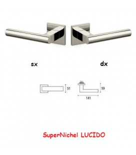 1/2 MANIGLIA EUCLIDE Q SuperNichel LUCIDO