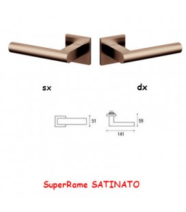 1/2 MANIGLIA EUCLIDE Q SuperRame SATINATO