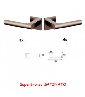 1/2 MANIGLIA EUCLIDE Q SuperBronzo SATINATO