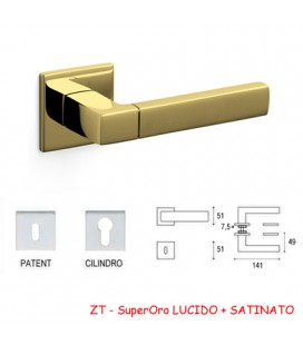 MANIGLIA PLANET QB SuperOro LUCIDO+SATINATO