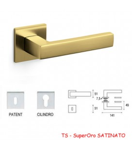MANIGLIA PLANET QB SuperOro SATINATO