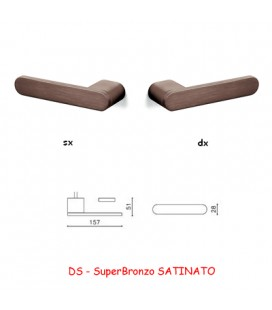 1/2 MANIGLIA RADIAL SuperBronzo SATINATO