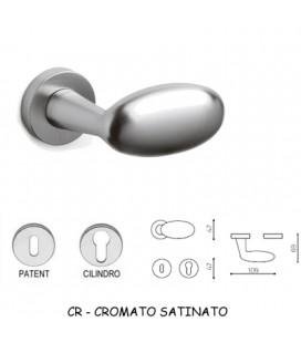 MANIGLIA BLINDO CROMATO OPACO