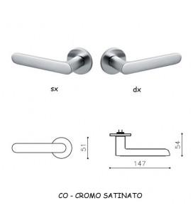 1/2 MANIGLIA ICONA CROMO SATINATO
