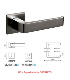 OLIVARI HANDLE MILANO Q SuperAnthracite SATIN
