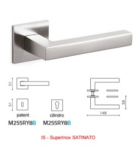 OLIVARI HANDLE ABC SuperStainlesssteel SATIN