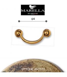 MANIGLIA 3092/64 OTTONE ANTICO