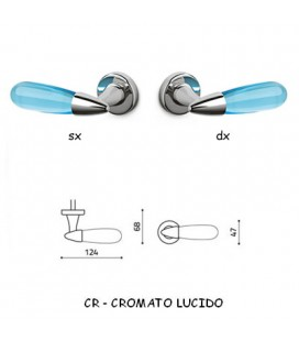 1/2 AURORA HANDLE BRIGHT CHROME + LIGHT BLUE