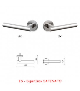 1/2 MANIGLIA BEIJING SuperInox SATINATO