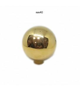 POMOLO SFERA 40 OTTONE LUCIDO