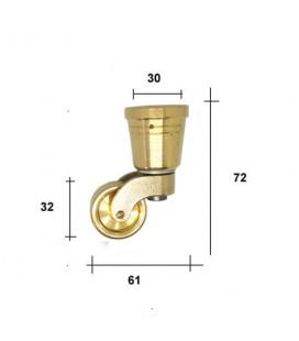 RUOTA mm30 C/PUNTALE TONDO OTTONE LUCIDO