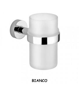 BICCHIERE VETRO TRASPARENTE/BIANCO OPACO