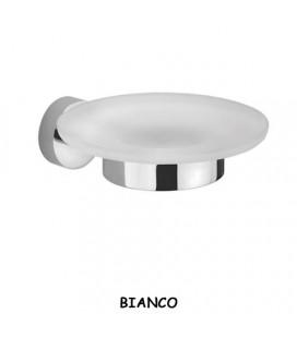 PORTA SAPONE VETRO/BIANCO OPACO