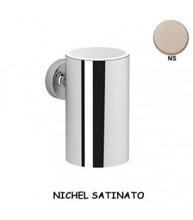 PORTA BICCHIERE NICHEL SATINATO