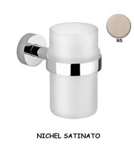 BICCHIERE VETRO TRASPARENTE/NICHEL SATINATO