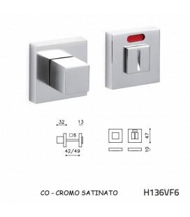 CHIAVISTELLO CUBO Q L/O CROMO SATINATO