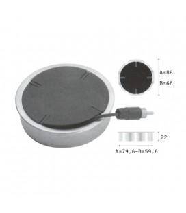 PASSACAVI 1015/B mm60 ARGENTO7/NERO
