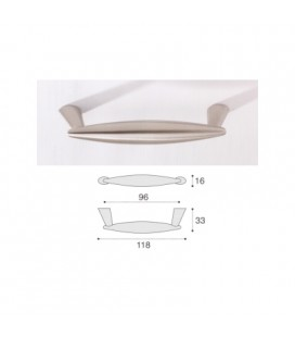 HANDLE 957/96 SATIN NICKEL