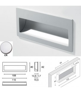 9045 HANDLE/FLUSH MOUNT CHROME