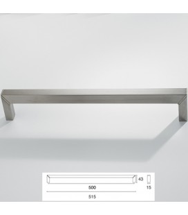 HANDLE 9096/500 SATIN STAINLESS STEEL