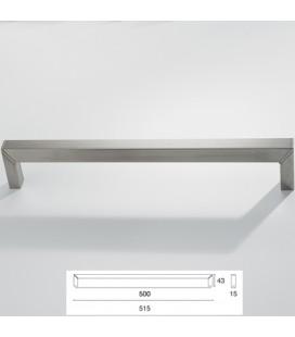 MANIGLIA 9096/500 INOX SATINATO