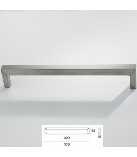 HANDLE 9096/320 SATIN STAINLESS STEEL