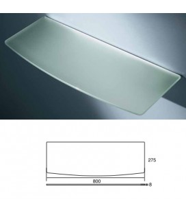 CONVEX GLASS TOP mm800x275 ACID.