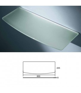 CONVEX GLASS TOP mm600x225 ACID.