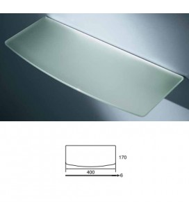 CONVEX GLASS TOP mm400x170 ACID.