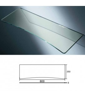 GLASS TOP with CONCAVE mm800x275 ACID.