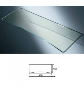 GLASS TOP with CONCAVE mm400x170 ACID.