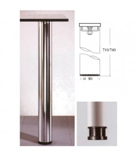 LEG 80x710 NICHELSAT GLASS.