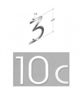 NUMERO 3 INOX SAT. mm150