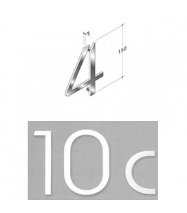 NUMERO 4 INOX SAT. mm150