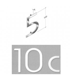 NUMERO 5 INOX SAT. mm150