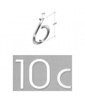 NUMERO 6\' INOX SAT. mm150\'
