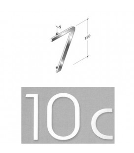 NUMERO 7 INOX SAT. mm150
