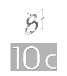 NUMERO 8\' INOX SAT. mm150\'