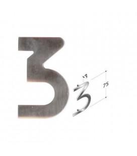 NUMERO 3\' INOX SATINATO mm75\'