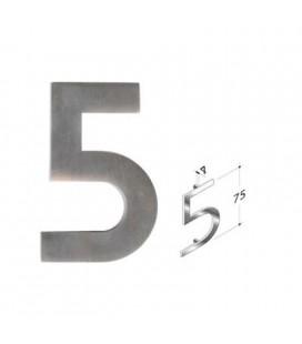 NUMERO 5\' INOX SATINATO mm75\'