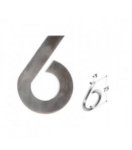 NUMERO 6\' INOX SATINATO mm75\'
