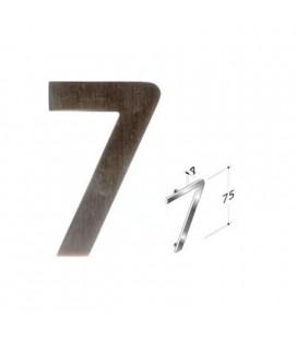NUMBER 7 SATIN INOX mm75