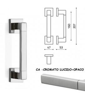 MANIGLIONE PLANET Q CROMO LUCIDO+SATINATO