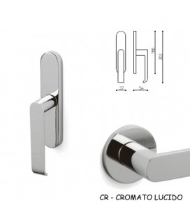 WINDOW HANDLE BETA BRIGHT CHROME