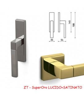 Window handle OLIVARI PLANET Q SuperGold BRIGHT+SATIN