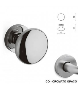 1/2 POMOLO EDISON 70 CROMATO OPACO