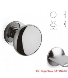 1/2 POMOLO EDISON 70 SuperInox SATINATO
