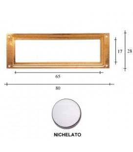 PORTAETICHETTE R80 NICHEL